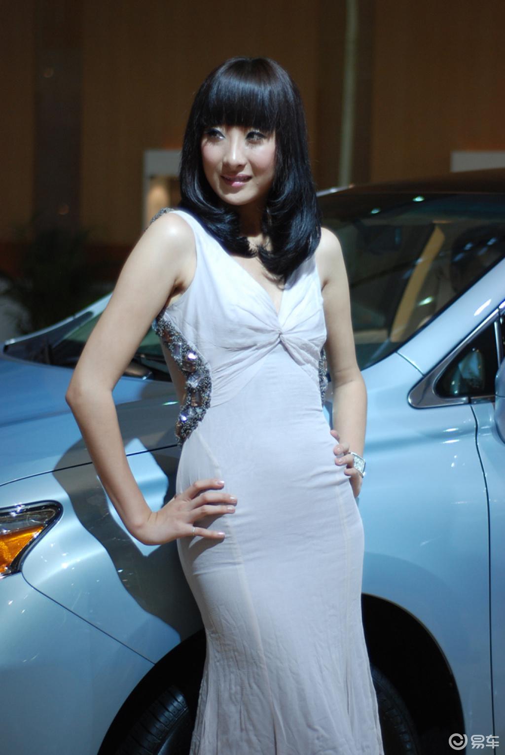 09车展美女 素颜车模