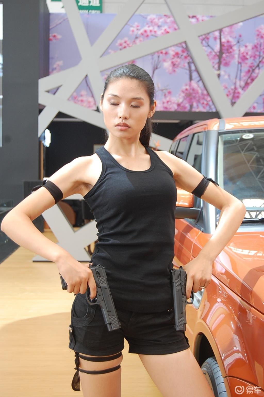 哈尔滨车展 09车展美女