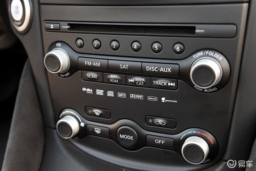 【日产370z2010款coupe中控台空调控制键汽车图片-】