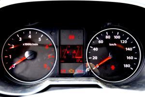 佳宝V80仪表盘背光显示图片