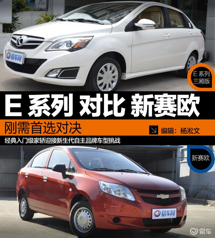 北京汽车对比雪佛兰新赛欧(573678);
