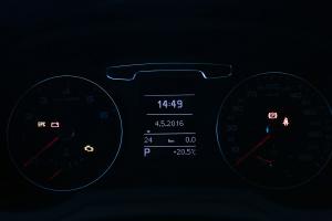 奥迪Q3仪表盘背光显示图片