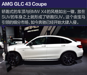 奔驰GLC级AMGGLC 43 Coupe巴黎车展图片