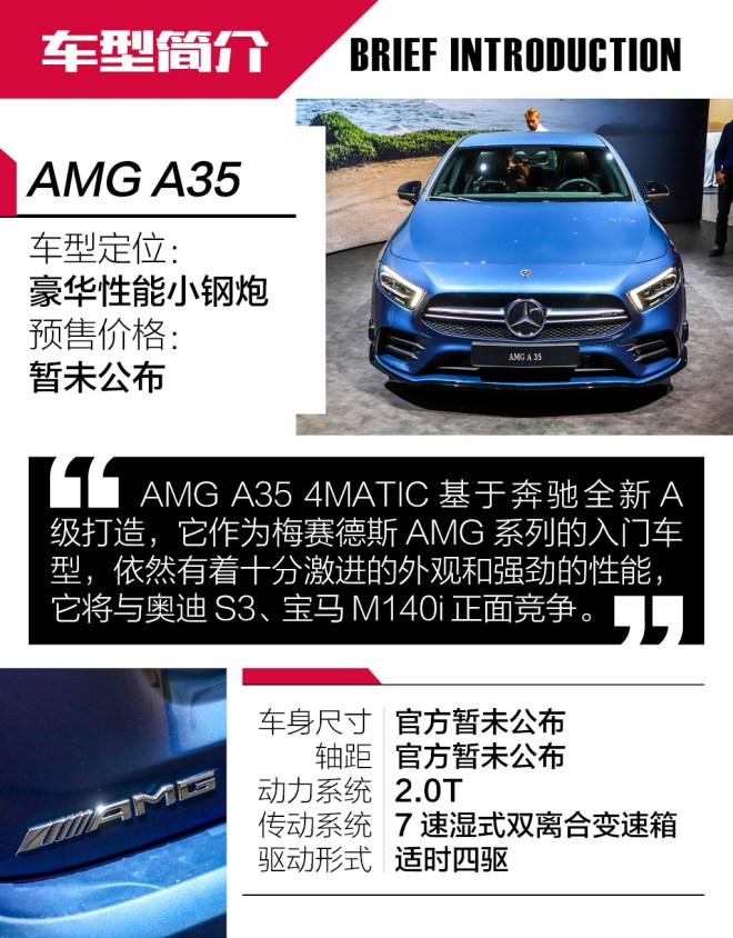抢先实拍AMG A35 4MATIC 高调的入门AMG