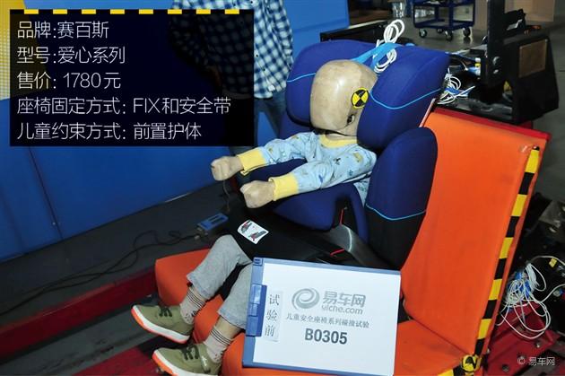 易车网儿童安全座椅碰撞测试成绩 第四期