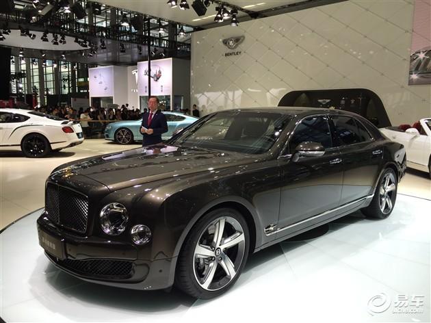 宾利慕尚24K镶金双翼版深圳车展正式发布