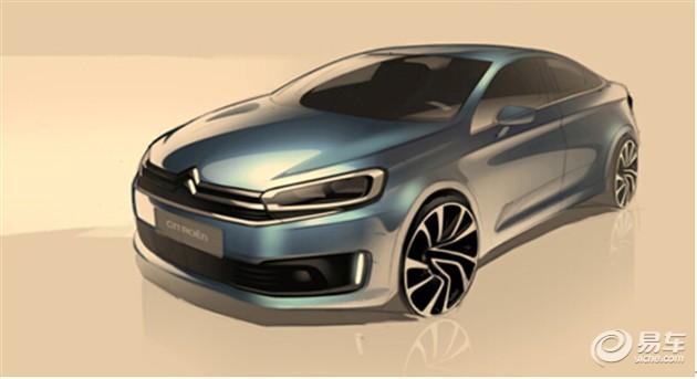 曝东风雪铁龙全新车型设计图 或年内推出
