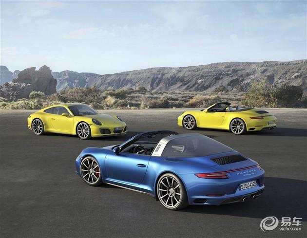 保时捷911推三款新车型 配涡轮增压与四驱