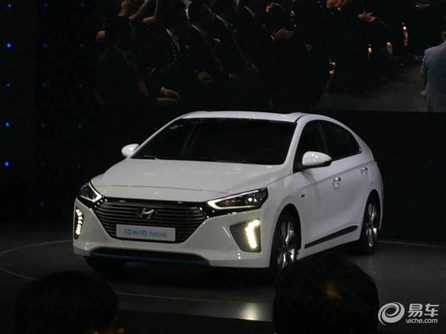 现代ioniq混动概念车亮相北京车展