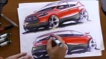 2014款淮瑞风S3 汽车设计草图绘制