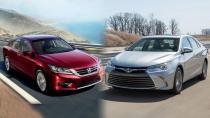 2015款丰田凯美瑞 对比评测本田新雅阁