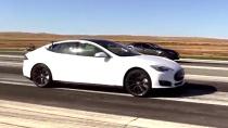特斯拉Model S 70D 竞速雷克萨斯IS F