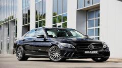 巴博斯改装奔驰C级 采用碳纤维材质