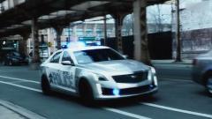 凯迪拉克CTS-V警车亮相 街头漂移耍酷