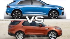 运动SUV奥迪Q8 对比路虎全新一代发现