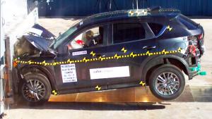 2017款马自达CX-5 NHTSA正面碰撞测试