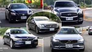 5款豪华中大型轿车动态对比
