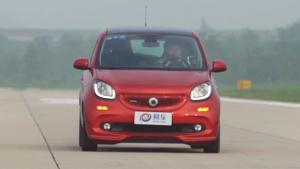 smart forfour刹车测试