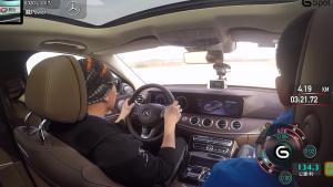 奔驰E320L行政级轿车 变线