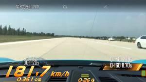 保时捷911加速测试车内视角