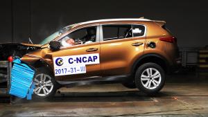 C-NCAP碰撞 起亚KX5获5星