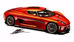 达人传神手绘 超级跑车科尼赛克Regera