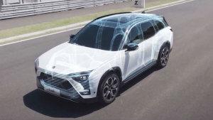 蔚来ES8采用全铝合金车身 轻量化设计