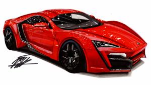 大神手绘超级跑车 Lykan Hypersport