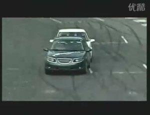 萨博saab性能试驾赛道上萨博车队表演2