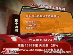 2009年中国汽车风云榜 第14周榜单