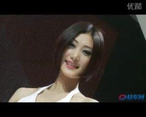 2009广州车展马自达清纯妩媚车模