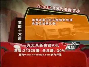2009年中国汽车风云榜 第46周榜单