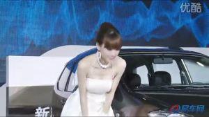 2010广州车展  森雅S80白衣女子