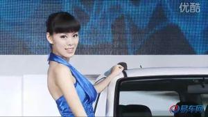 2010广州车展   森雅S80绿衣女子
