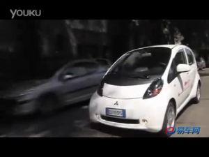 三菱纯电动小车i-MiEV上路测试