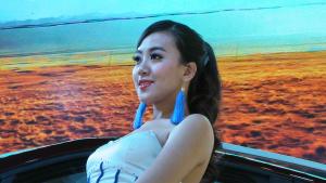2013广州车展 景逸X5车模明艳动人