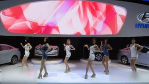 广州车展北京现代名图韩国车模热舞