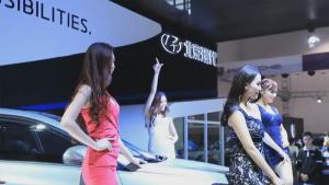2013贵阳车展 北京现代名图众佳丽群舞
