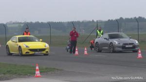 法拉利FF单挑 GT-R与迈凯伦12C