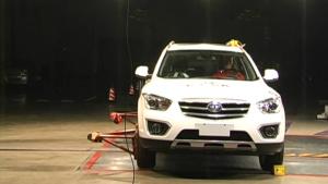 C-NCAP碰撞测试 奔腾X80荣获5星