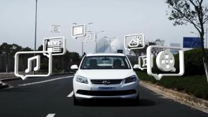 2014款奇瑞艾瑞泽7 智云娱乐行车系统