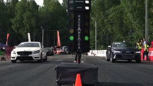 2014直线加速 奥迪RS7单挑多款跑车
