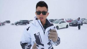 零下30度  陈震参加奔驰冰雪驾驭体验