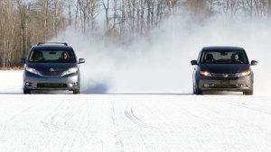丰田塞纳XLE四驱冬季测试 挑战三巨头
