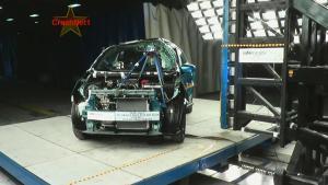 2015款三菱Mirage 侧面柱形碰撞测试