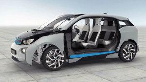宝马i3纯电动车 LifeDrive结构演示