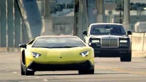 洛杉矶直线加速 Aventador秒杀幻影