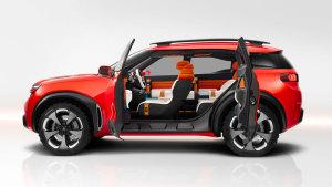 雪铁龙Aircross概念车 独特后窗设计