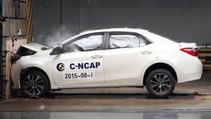 C-NCAP碰撞测试 广汽丰田雷凌荣获五星