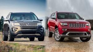 Jeep大切诺基VS福特探险者 大型SUV对比